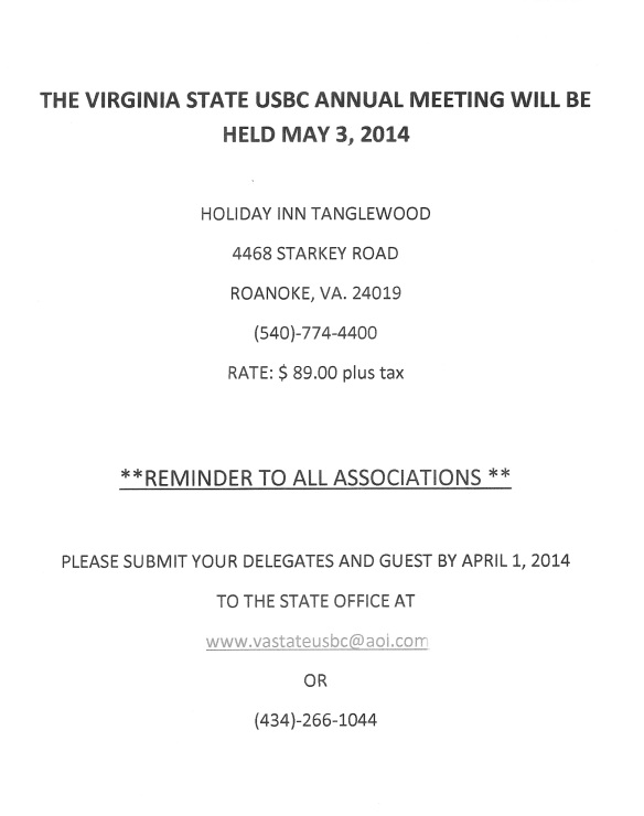 2014 Annual State Meeting